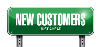 New customer street sign concept Royalty Free Stock Photos