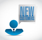 New customers avatar sign concept Royalty Free Stock Photo