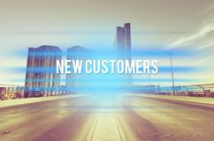 New customers. Sales product vision market website search royalty free stock photos
