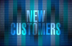 New customers sign concept illustration Royalty Free Stock Image
