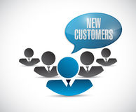 new customers team sign concept Stock Images