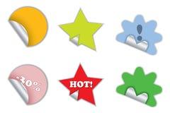 New customizable stickers Stock Photos