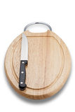 New Cutting Board with Knife (with clipping path) Royalty Free Stock Photo
