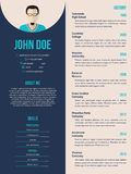 New cv resume template Royalty Free Stock Photography