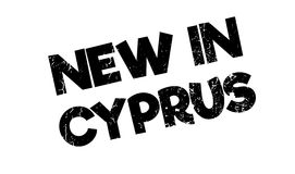 New In Cyprus rubber stamp. Grunge design with dust scratches. Effects can be easily removed for a clean, crisp look. Color is easily changed Stock Image