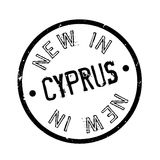 New In Cyprus rubber stamp. Grunge design with dust scratches. Effects can be easily removed for a clean, crisp look. Color is easily changed Royalty Free Stock Images