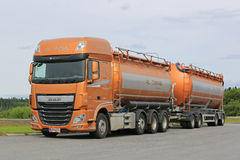 New DAF XF Tank Truck Parked Royalty Free Stock Images