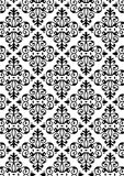 New Damask Style Pattern. Damask Style Pattern Background - BW texture - Vector Include layer whit pattern design source Royalty Free Stock Image