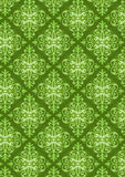 New Damask Style Pattern. Damask Style Pattern Background - Green texture - Vector Include layer whit pattern design source stock illustration