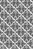 New Damask Style Pattern. Damask Style Pattern Background - BW texture - Vector Include layer whit pattern design source stock illustration