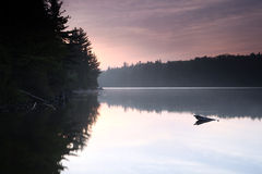 New Day. Sunrise over a lake in Algonquin Provincial Park in Ontario, Canada Stock Photos