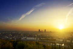 A new day begin at Lyon city, France Stock Photo