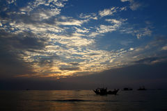 New day for fishermen Royalty Free Stock Images