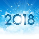2018 New day greeting card Royalty Free Stock Images
