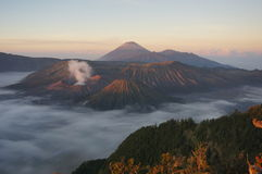 A new day has come. Beautiful sunrise from Bromo viewpoint, Indonesia Stock Image