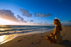 New Day Meditation stock photo