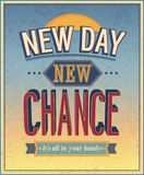 New Day, new chance. Vector illustration stock illustration