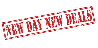 New day New deals red stamp Royalty Free Stock Photography