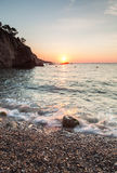 A new day. Sunrise in Cala Pedrosa. Tamariu. Costa Brava. Catalonia. Spain Stock Images