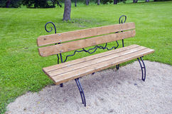 New  decorative  bench at a park Stock Photo