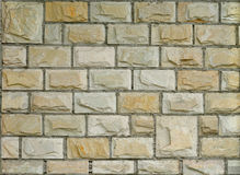 New Decorative Brick Wall. Fragment of new decorative brick wall with stucco Royalty Free Stock Image