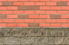 New decorative facing red brick wall Royalty Free Stock Photography