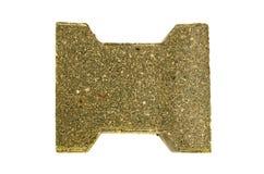 New  decorative street pavement concrete brick paving stone isolated Royalty Free Stock Photo
