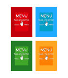 Decorative vector Menu card. New decorative vector Menu card. Food and drinks Stock Photography