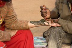 New Delhi. Body art in the street of New Delhi Stock Photography