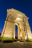 New Delhi Gateway of India at Blue Hour. A wide angle closeup view of the India Gate also called Gateway of India (formerly known as the All India War Memorial) Royalty Free Stock Photos