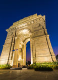 New Delhi Gateway of India at Blue Hour. A wide angle shot of the India Gate (formerly known as the All India War Memorial) at Rajpath, New Delhi Royalty Free Stock Photo