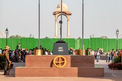 New Delhi, Inde - f?vrier 2019 Amar Jawan Jyoti, m?morial chez India Gate ? New Delhi photo stock