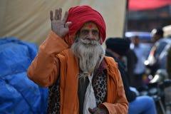 New Delhi, Inde, le 23 novembre 2017 : Art du portrait d'un homme avec le turban Images libres de droits