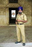 NEW DELHI, INDIA - APRIL, 2013: Indian sikh security Royalty Free Stock Photos