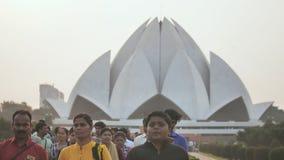 New Delhi, India - November 28, 2018: People visiting Lotus Temple.