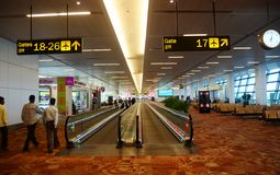 New Delhi international airport interior Royalty Free Stock Image