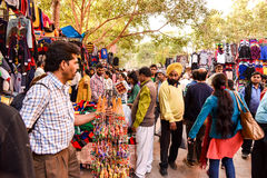 New Delhi Market scene Royalty Free Stock Images