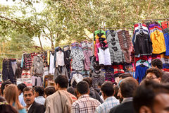 New Delhi Market scene Stock Photos