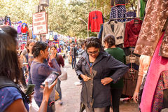 New Delhi Market scene Stock Images