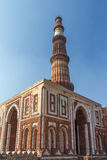 New Delhi Minar Qutub. Unesco world heritage site Royalty Free Stock Images