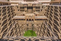 Between New Delhi and Pakistan, a desertic region famous of its castles, its colorful people, and the sophisticated stepwells stock image