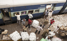 New Delhi rialway stacja Fotografia Stock