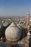 New Delhi Rooftops. A cityscape view from the Jama Masjid mosques  in New Delhi Stock Photography