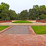 New Delhi.Shanti Van memorial Royalty Free Stock Photo