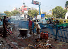 New Delhi street kitchen Royalty Free Stock Image