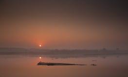 New Delhi sunrise Stock Photos