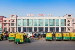 New Delhi train station Stock Photo