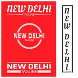 New Delhi typography set, flat designs. EPS file available. see more images related vector illustration