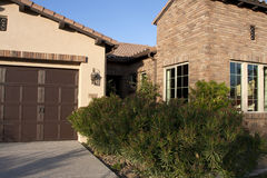 New desert golf course home front entrance Stock Photography