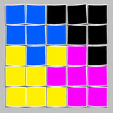 Cmyk puzzle Royalty Free Stock Images